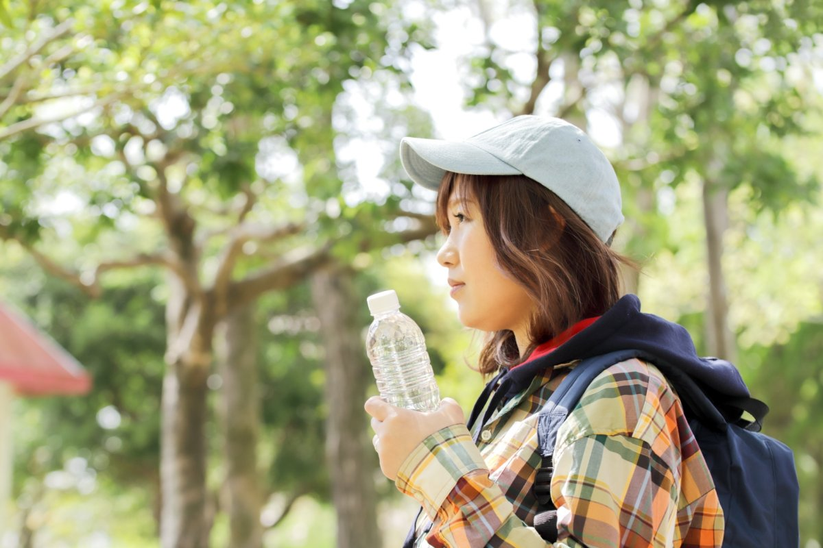 山歩きと帽子