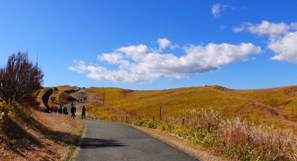 阿蘇大観峰の遊歩道を通って展望所へ