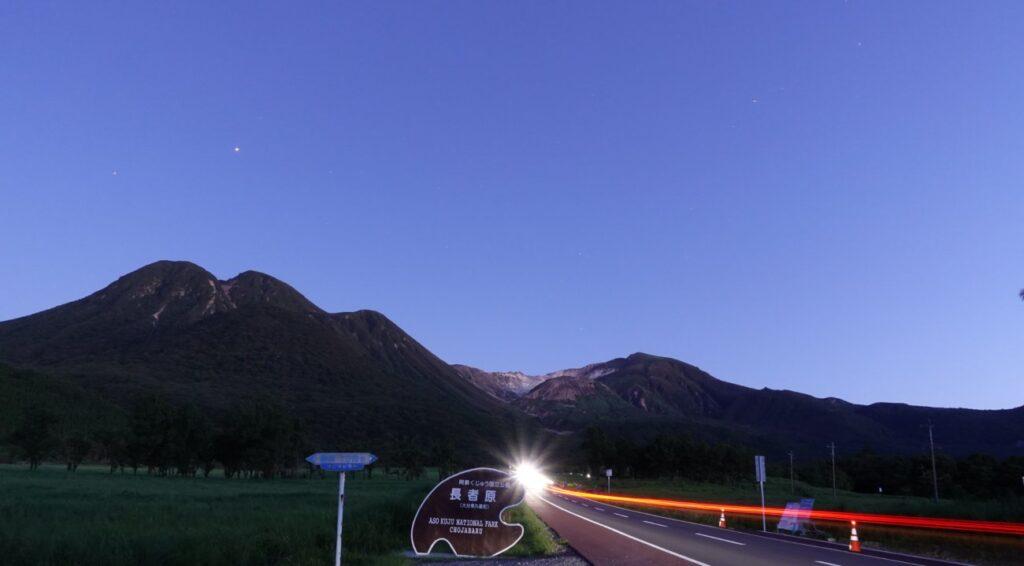19:33の木星(右)と宵の明星、金星(左)