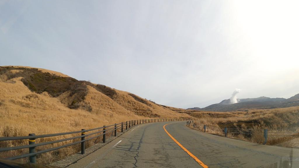 阿蘇中岳へ向かう道路
